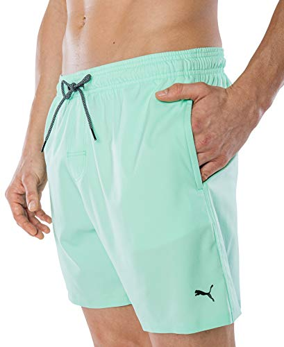 PUMA Herren Badehose Badeshorts Summer Deluxe Swim Shorts - Mint grün - Gr. M