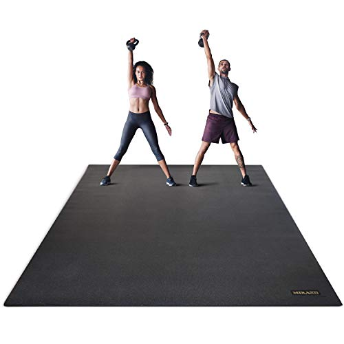 Miramat® Giga - Ultra Large Premium Exercise Mat (244 x 183cm; 7mm Thick) - Durable Non-Slip Workout Mats for Home Gym, Crossfit, P90X, HIIT, Cardio Equipment, Yoga, and More from Mira Labs Pty. Ltd.