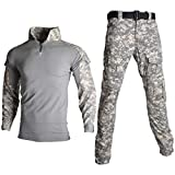 Camouflage Military Tactical Uniform Kleidung Männer Army Combat Kleidung Set Paintball Shirt und Cargo Pants No Pads ACU L