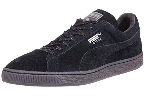 Puma - Suede Classic Mono Ref Iced - Sneaker (43, Black / Puma Silver (Schwarz))