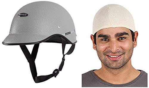 Habsolite All Purpose Safety Helmet with Strap (Grey, Free Size) and Autofy...