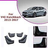 SKNB Guardabarros De Coche Mejorados para Volvo V40 Hatchback 2013-2017 Guardabarros Delantero Y Trasero Estilo De Guardabarros Automático U0026 Accesorios para El Cuerpo Negro 4 Piezas