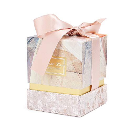Present Box, Boxes for Party Favor Crafting Cardboard Engagement Christmas Wedding Valentines Day Decorative Bridal Showers