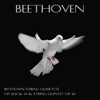 Beethoven: String quartets Op. 18, 59 & 95 & String quintet Op. 29