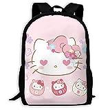 Mei-shop Mochila Informal Love Hello-Kitty Imprimir Cremallera Mochila Escolar...