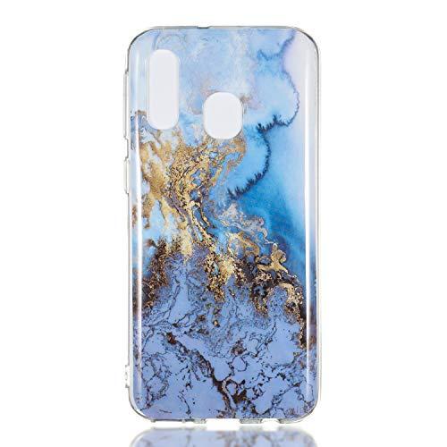Homikon Silikon Hülle Marmor Muster TPU Handyhülle Ultra Dünn Matt Weiche Schutzhülle Stoßdämpfend Rückseite Soft Flexibel Tasche Case Cover Bumper Kompatibel mit Samsung Galaxy A20/A30 - #6