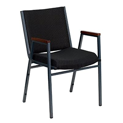 Flash Furniture Hercules Series 3-Inch Thickly Padded Patterned Upholstered Stack Chair