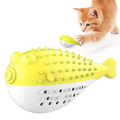 SONIKO Cat Lick Toys Healthy Cat Treats Ball Energy Sugar Ball Catnip Toys for Cats Kitten (Yellow)