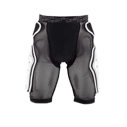 O\'NEAL | Protektoren-Hose | Motocross Enduro Motorrad | High-Density Eva Schaum, Integrierte Belüftungspads, elastischer Taillenbereich | Kamikaze Short | Erwachsene | Schwarz Weiß | Größe M