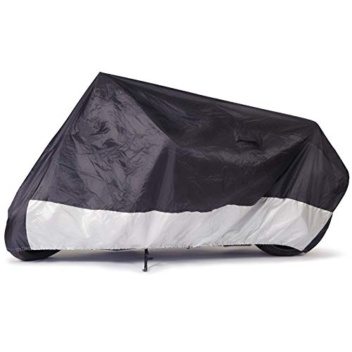 """Budge Sportsman Motorcycle Cover, Black, Waterproof, Universal Fit, Fits up to 96"""", Model: MC-7"""