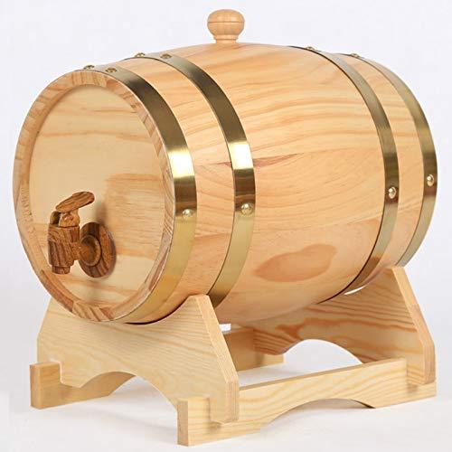 SHAIRMB Dispensador de Barril Whisky 1.5L / 3L / 5L / 10L / 15L / 20L / 25L / 30L, Barril de Envejecimiento Sin Fugas para Almacenamiento de Vino, Licores y Whisky,3 Liters