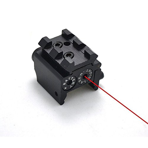 IRON JIA'S Tactique Mini Pistolet Laser réglable Red Dot Sight Compact Fit Rail Mount 20mm Chasse Scopes Airsoft Lunettes de visée