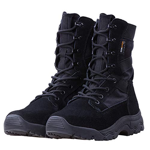 Sports de Plein air Tactique Armée Bottes Militaire Hommes Combat léger Chaussures pour Camping Randonnée Escalade Black 11