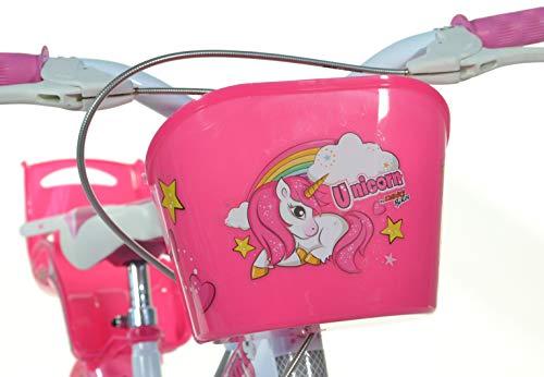 Einhorn Kinderfahrrad Unicorn Mädchenfahrrad – 16 Zoll| Original | Kinderrad Mit Stützrädern, Puppensitz Und Fahrradkorb – Das Einhorn Fahrrad Als Geschenk Für Mädchen - 6