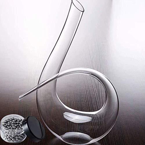 Dulce Decantador de Vino de 1600 ml, Vidrio de Cristal Libre de la Mano, decantador de Vino, Jarra de Vino, Accesorios de Vino, decantador de Vino Tinto WKY