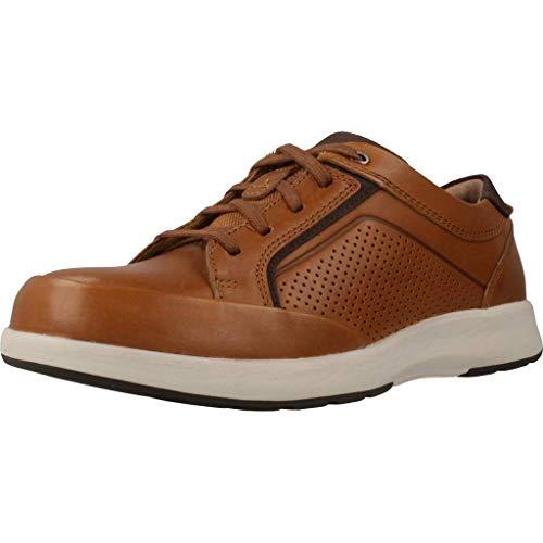 Clarks Un Trail Form, Zapatos de Cordones Derby, Marrón (Tan Leather-), 43 EU