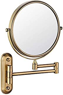 BMJ&C Shaving Mirror Extending Folding Double Side Cosmetic Make Up 5X Magnification Bathroom Makeup Mirror,Wall Mounted (Color : 03, Size : 6 inch/5×)