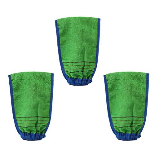 SUPVOX Gants Mitaines Exfoliantes pour Le Corps en Fibre de Bambou Épurateur de Dos Double Texture Gant pour Douche Spa Massage Enlever Les Cellules M