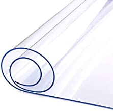 LovePads 1.5mm Thick 24 x 48 Inches Clear Table Cover Protector, Desk Pad Mat, Rectangular Plastic Table Top Protector, PVC Table Pad for Writing Desk, Coffee Table, Countertop