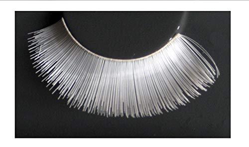 Eulenspiegel 000533 - pestañas artificiales - blanco - 2 x 1 piezas