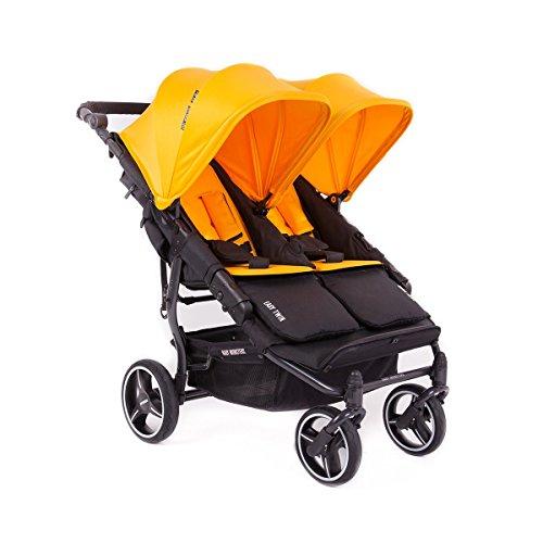 Baby Monsters- Silla Gemelar Easy Twin 3.0.S (Chasis negro) - Color Mango (capota normal) Danielstore Colchonetas no incluidas