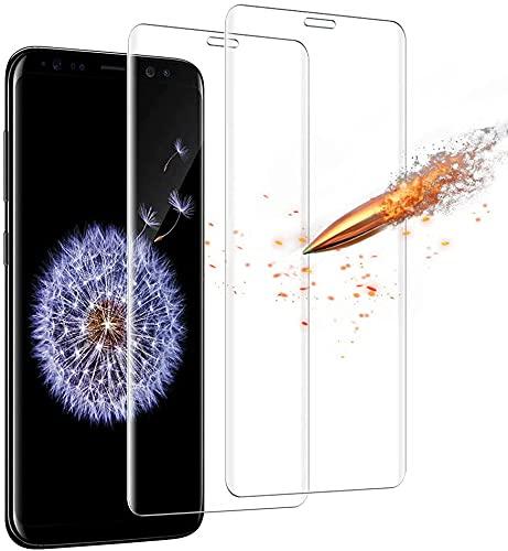 Carantee Panzerglas Schutzfolie für Samsung Galaxy S9 Plus - [2 Stück] 9H Härte Displayschutzfolie, Ultra Kristallklar 99% Transparenz-Schutz vor Kratzen, Öl, Bläschen Panzerglasfolie