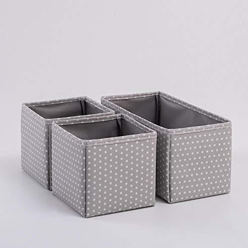 Ocean Home 3teilige Faltbare Schubladenboxen, Organizer Aufbewahrungsbox für Unterwäsche Krawatten...