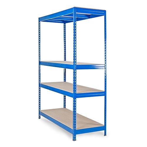Mammut® Schwerlastregal | 4 Größen wählbar | Tragkraft 360kg/Boden | blau 150x200x80