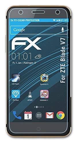 atFolix Schutzfolie kompatibel mit ZTE Blade V7 Folie, ultraklare FX Bildschirmschutzfolie (3X)