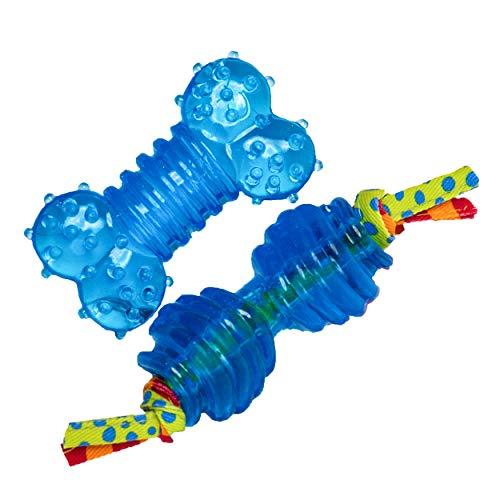 Petstages #234 Ultra Mini Orka Chew Pack, Kauspielzeug für Hunde, Hundespielzeug blau