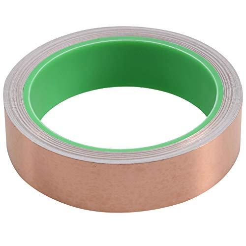 Cuasting - Cinta adhesiva de cobre con adhesivo conductor (25 mm x 11 metros) – Repelente de babosas, blindaje EMI, vidrieras, circuitos de papel, reparaciones eléctricas, manualidades
