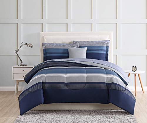Style 212 Carlyle Blue Full 12 Piece Bed in a Bag