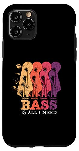 iPhone 11 Pro Bass Guitar Vintage Headstock Bass is all I need for Bassist Case