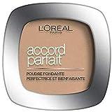 L'Oréal Paris - Poudre Fondante Accord Parfait - Peaux Normales à Mixtes - Teinte : Caramel Doré (6.5D) - 9 g