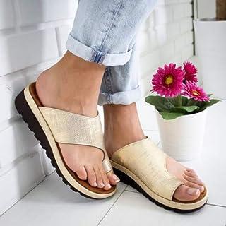 La Moda Sandalias Mujer Verano 2019 Plataformas Correctoras Juanetes PU Cuero Antideslizante Cómodo Playa Sandalias Deportes