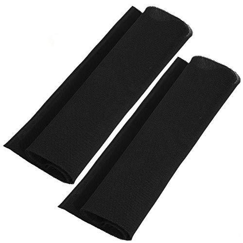 MAGT Tela para Altavoces Malla Antipolvo, Cubierta De Polvo De Altavoz 1.4m X 0.5m Tela Protectora a Prueba de Polvo Cubierta de Tela de Malla de Audio estéreo de Altavoces Grill Clothh (Black)