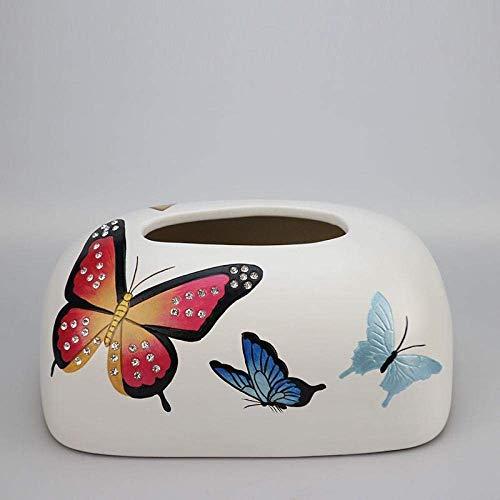 Guoning-L Tejido Tejido caja de pañuelos de almacenamiento caja de dispensadores de papel higiénico bandeja de papel decorativo Inicio simple caja de pañuelos Hogar moderno Salón Comedor papel de la s