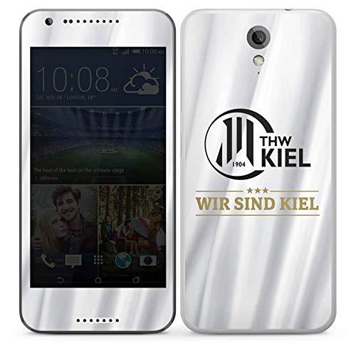 Folie kompatibel mit HTC Desire 620 Aufkleber Skin aus Vinyl-Folie THW Kiel Handball Offizielles Lizenzprodukt