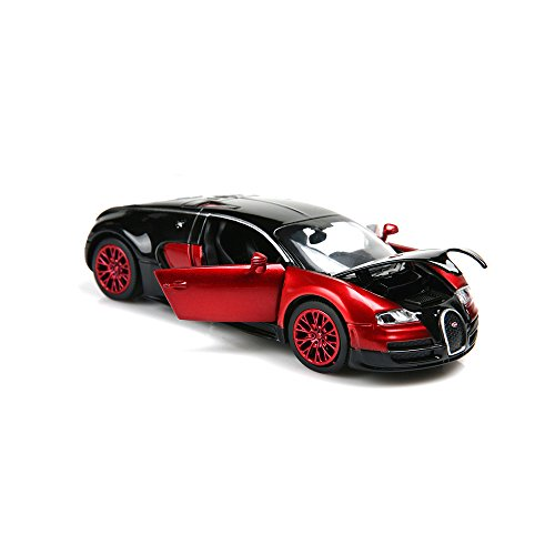 ZHFUYS 1:32 Bugatti Veyron diecast car ,Alloy Model Cars Toy Cars for 3 to 12 Years Old (red)