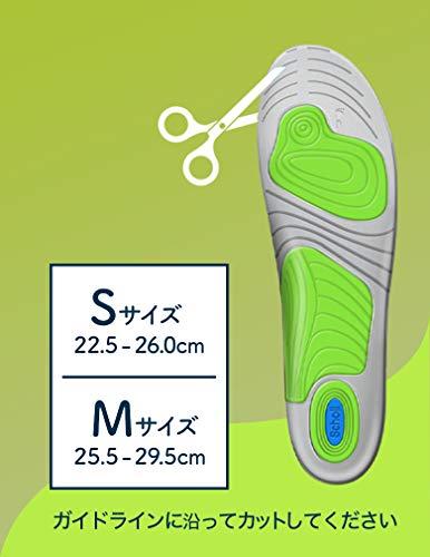 インソール衝撃吸収中敷き消臭ドクターショールジェルアクティブアクティブプラス運動などの強い衝撃用S(22.5cm-26.0cm)×2個