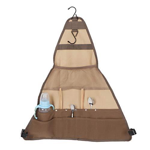 Crisis Bolsa de vajilla de Camping, Bolsa de Almacenamiento de Cubiertos, Organizador...