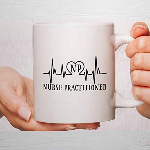 Taza de café, taza de enfermera, tazas de enfermera, regalos de enfermera, enfermera, practicante de NP, taza de café, taza de té de cerámica, regalo para amigos, familia, pareja, colega de 330 ml