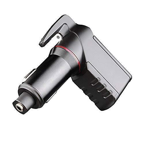 CAPTIANKN Notfall-Escape-Tool, Rettungswagen laden Sicherheit Hammer, Spring Type Window Opener, Seat Belt Cutter, Dual USB Port