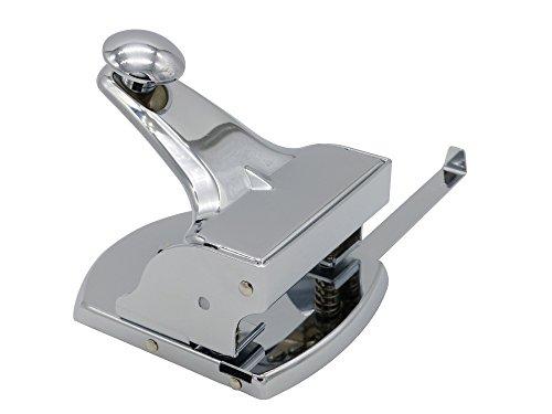 Kornet & Hahn Locher Metall mit Anschlagschiene – nicht elektrisch - groß fürs Büro, Silber Chrom