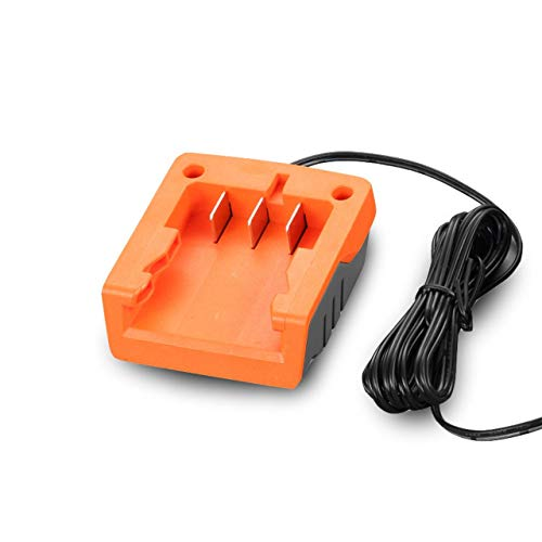 Fuxtec Li-Ion Ladegerät 1A 25W FX-E1LG1A – für 2Ah & 4Ah Batterie passend 20 Volt Gartengeräte – Ladespannung 20.9V