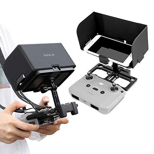 Linghuang Soporte para Teléfono Móvil para Control Remoto para dji Mavic Mini 2/ Mavic Air 2 Soporte con Parasol y Correa de ángulo Ajustable para Mavic Mini / Mavic 2 / Mavic Air / Mavic Pro / Spark
