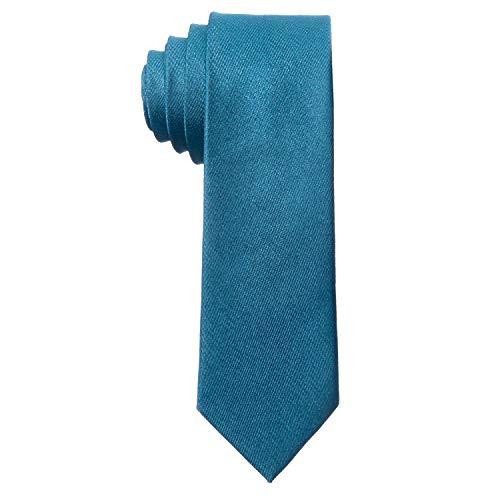 MASADA Corbata para Hombre elaborada a mano y con gran esmero 6 cm de ancho - Azul de jean