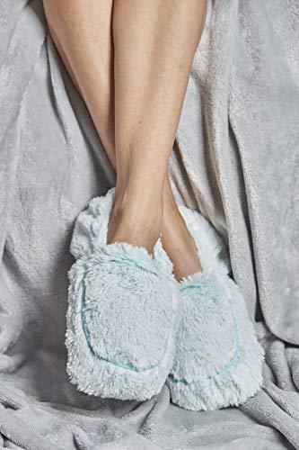 Warmies Vollständig beheizbare Hausschuhe, parfümiert mit französischem Lavendel, Minzgrün
