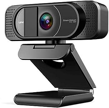 Unzano Full HD 1080P Webcam With Privacy Cover