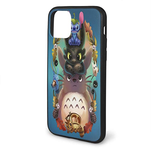 Totoro Stitch Dragon Spirited Away Nyan Cat Case for Phone Case 11/11Pro/11Pro Max Series Shockproof and Anti-Drop Protection Case Designed TPU Material
